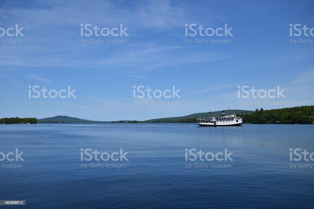 Mt. Katahdin Cruise Ship On Moosehead Lake stock photo