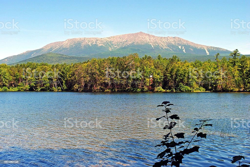 Mt. Katahdin Landscape stock photo