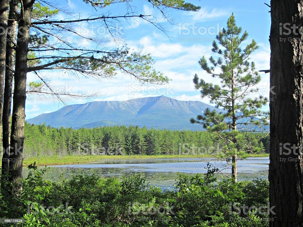 Mt. Katahdin stock photo
