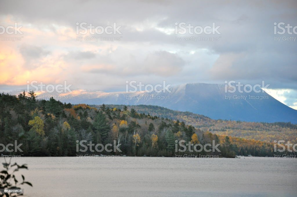 Mt. Katahdin stock photo