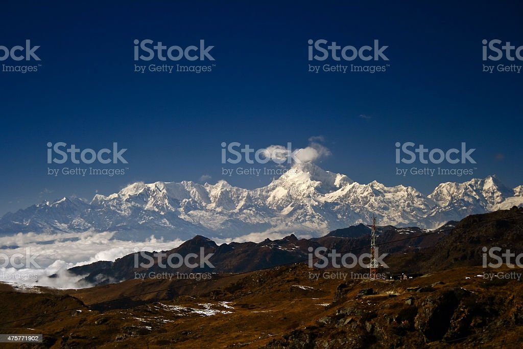 Mt. Khangchendzonga Range stock photo