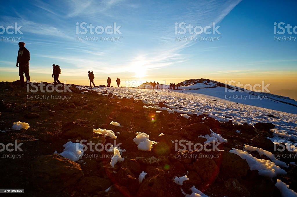 Mt Kilimanjaro route to the summit stock photo
