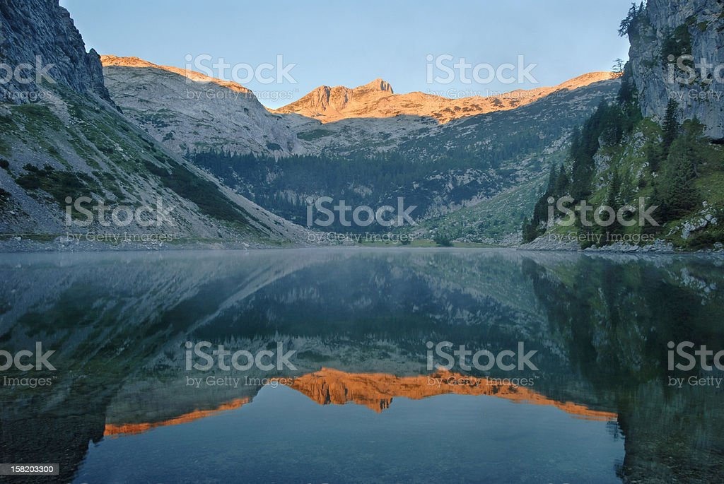 Mt. Krn reflection stock photo