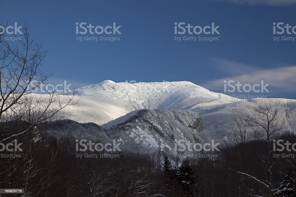 Mt. Lafayette on a clear day stock photo