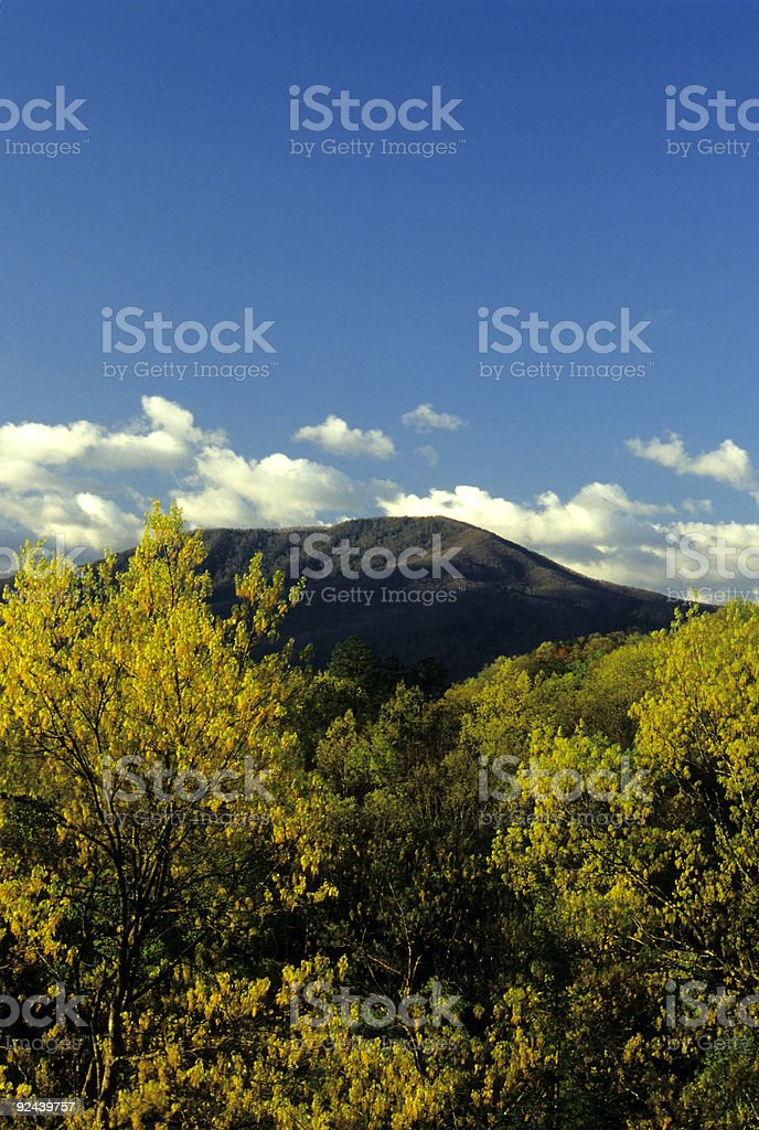 Mt LeConte from Foothills Parkway, TN royalty-free stock photo