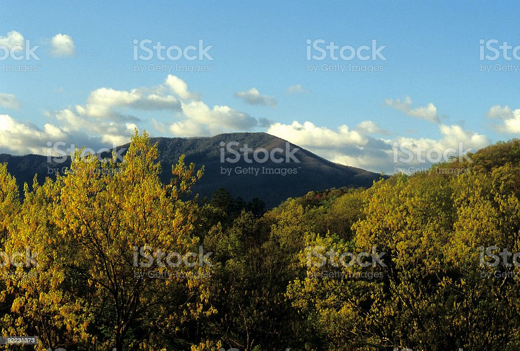 Mt LeConte from Foothills Pkwy, TN royalty-free stock photo