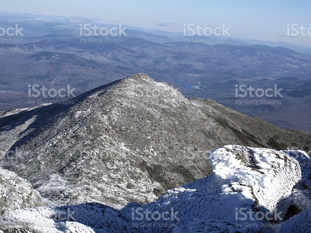 Mt Madison in the Fall stock photo
