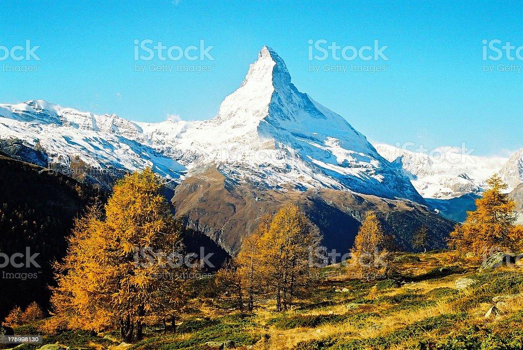 Mt. Matterhorn 02 royalty-free stock photo