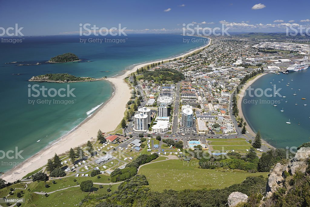 Mt. Maunganui, Bay of Plenty, New Zealand (XXXL) stock photo