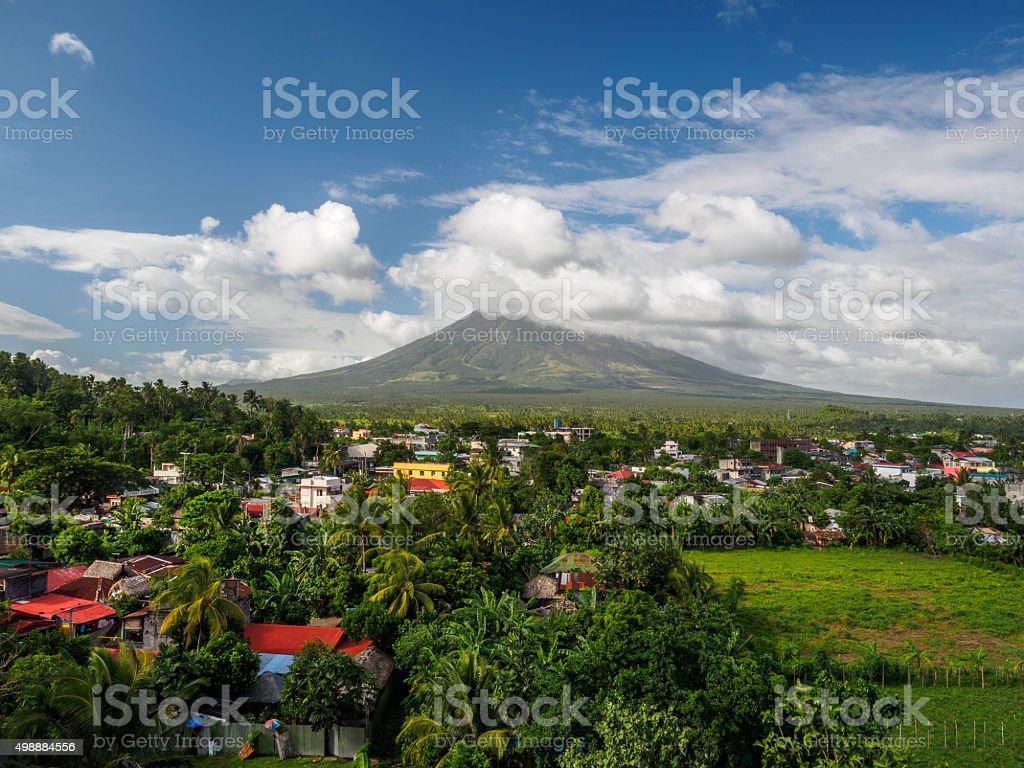 Mt Mayon stock photo