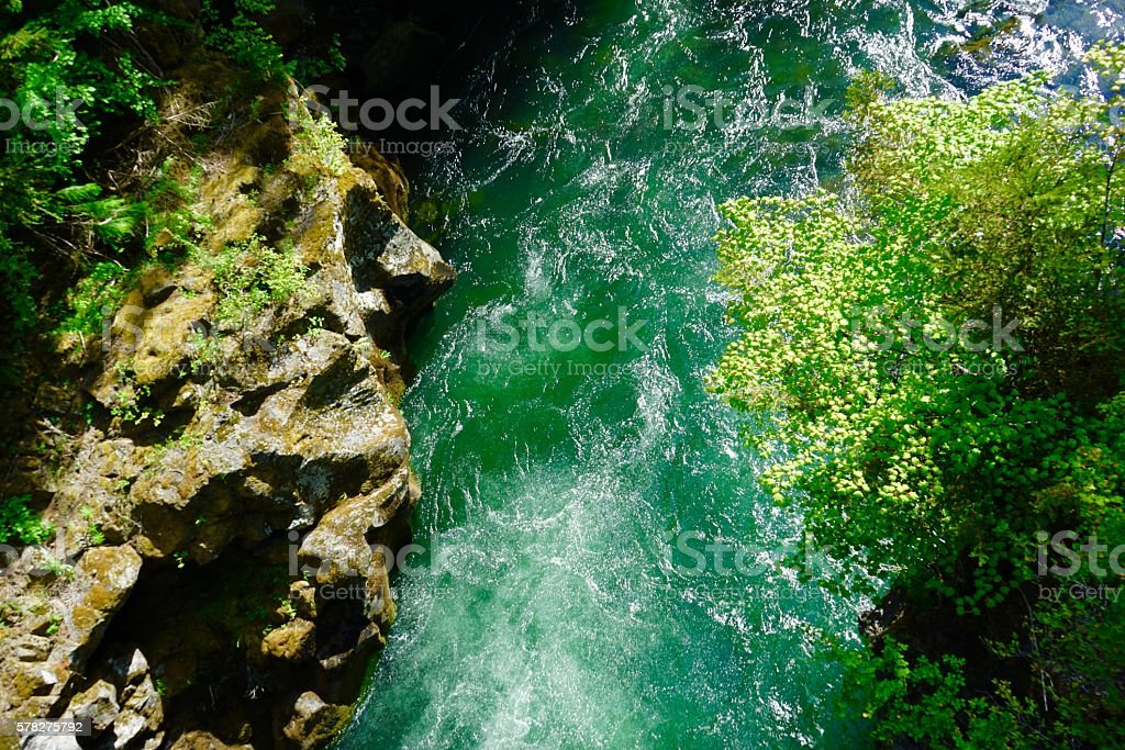 Mt. Mazama Green Water stock photo
