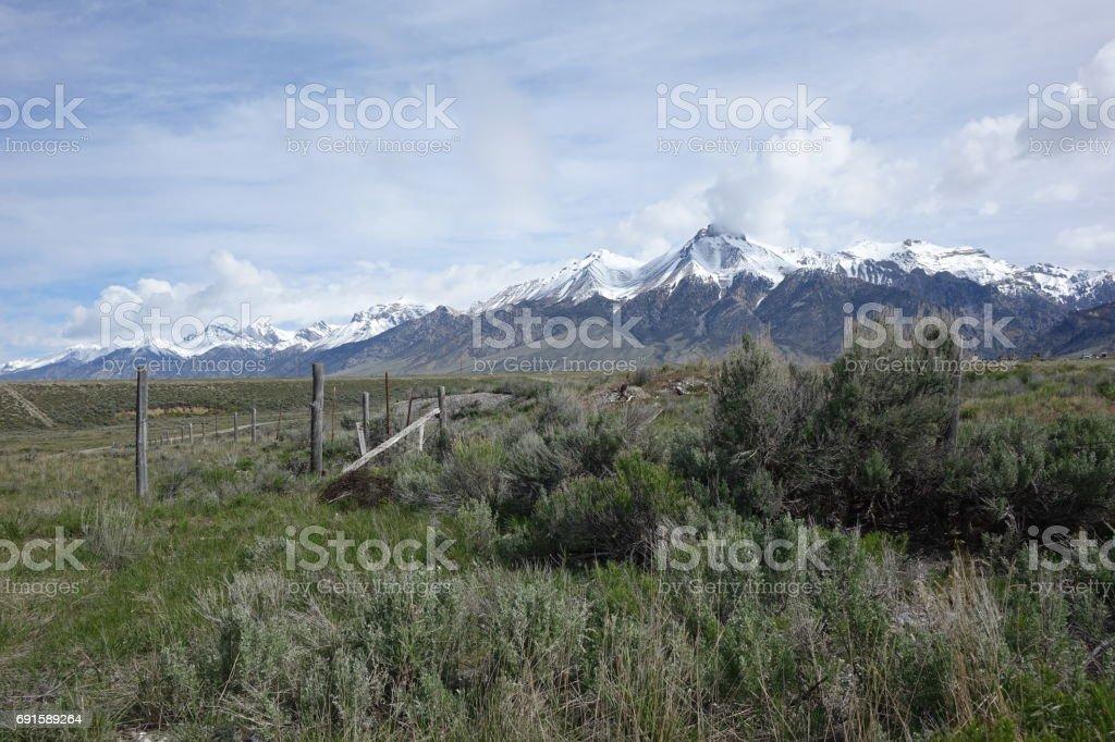 Mt. McCaleb at Mackay, Idaho stock photo