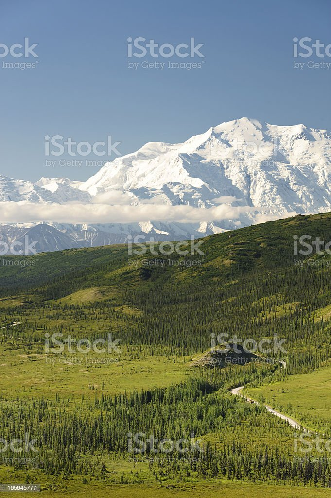 Mt. McKinley on a clear morning stock photo