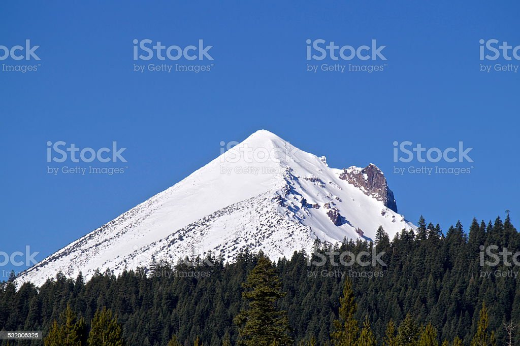 Mt. McLoughlin Blue Ice stock photo