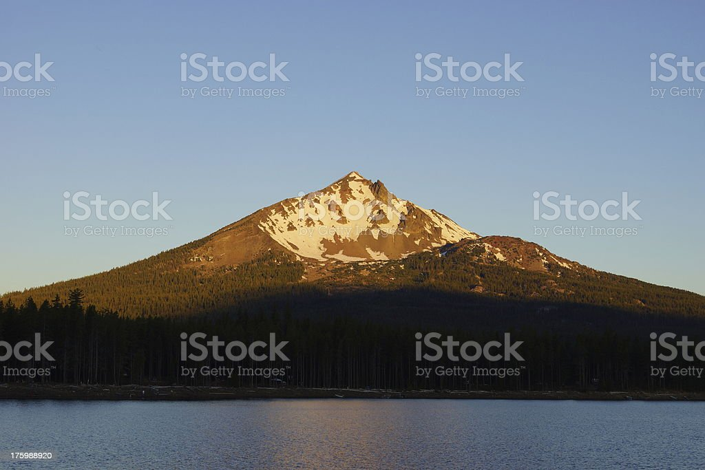 Mt. McLoughlin Sunrise Shadow stock photo