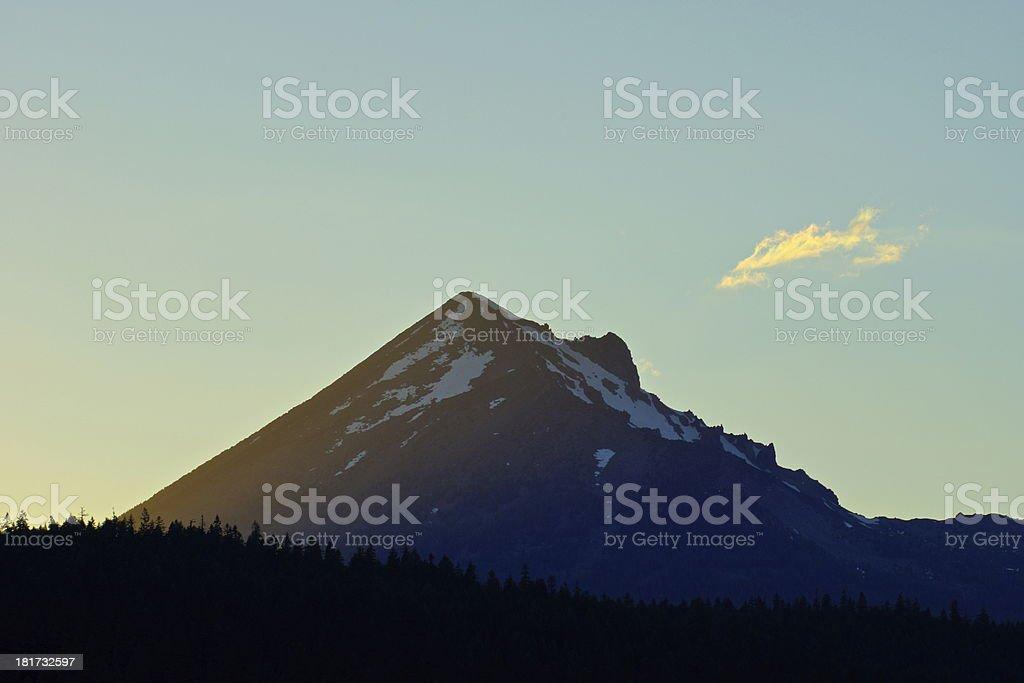 Mt. McLoughlin Sunset royalty-free stock photo