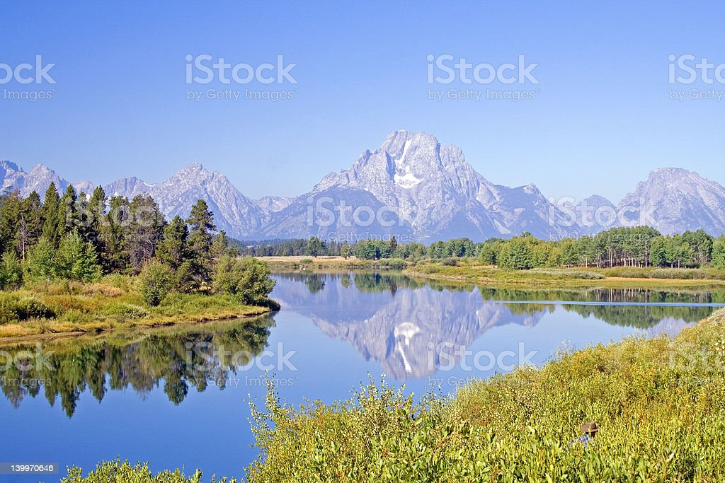 Mt. Moran stock photo
