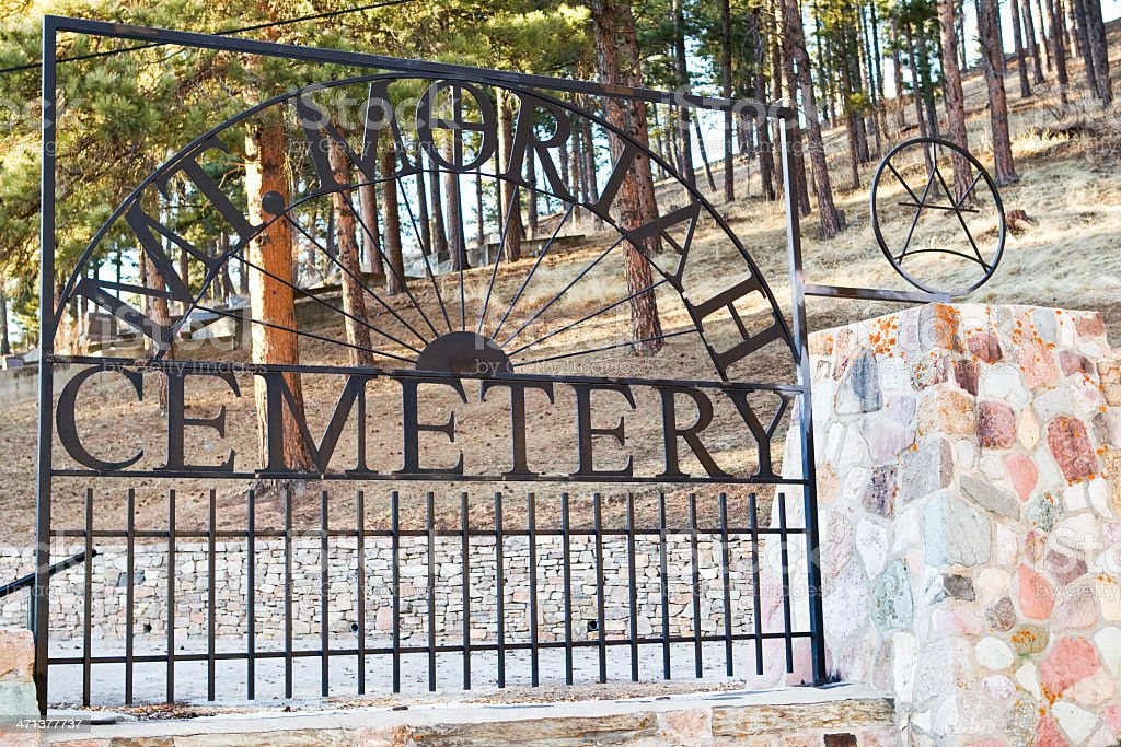 Mt. Moriah Cemetery - Deadwood, South Dakota stock photo
