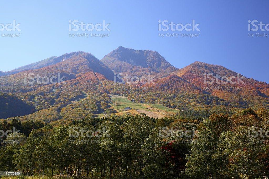 Mt. Myoko in autumn stock photo