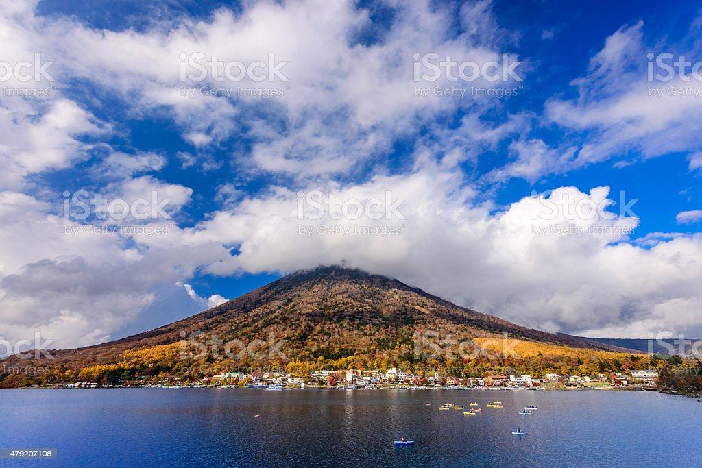 Mt. Nantai stock photo