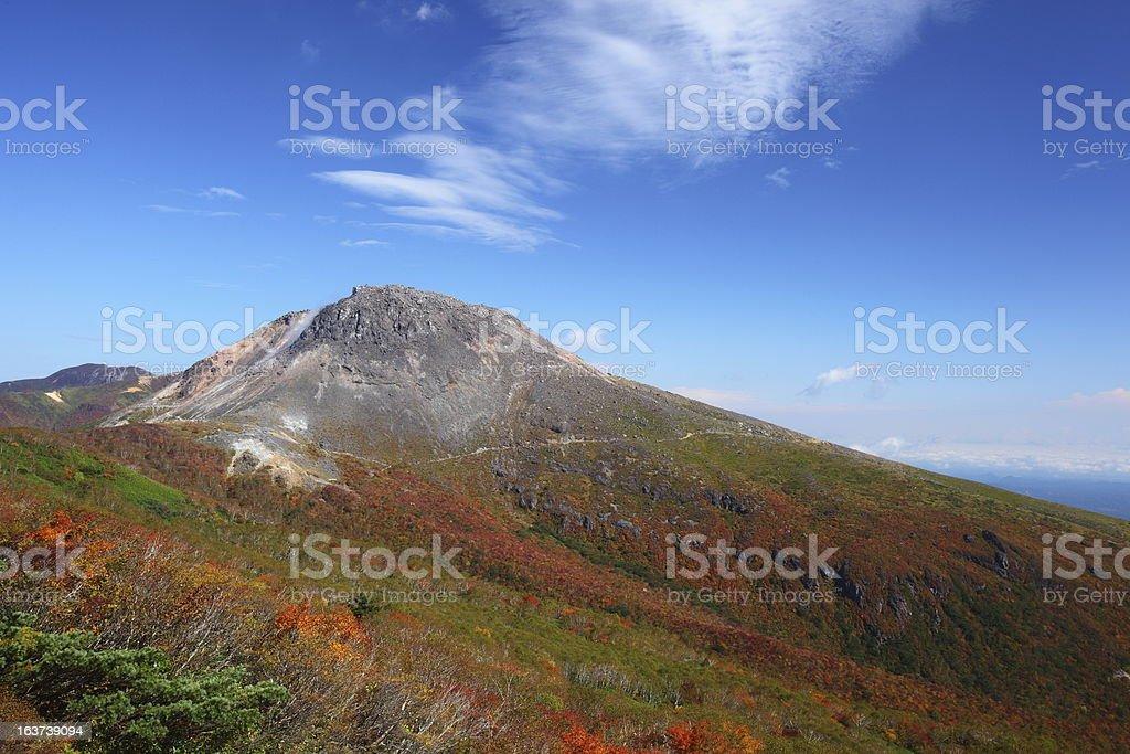 Mt. Nasudake in autumn royalty-free stock photo