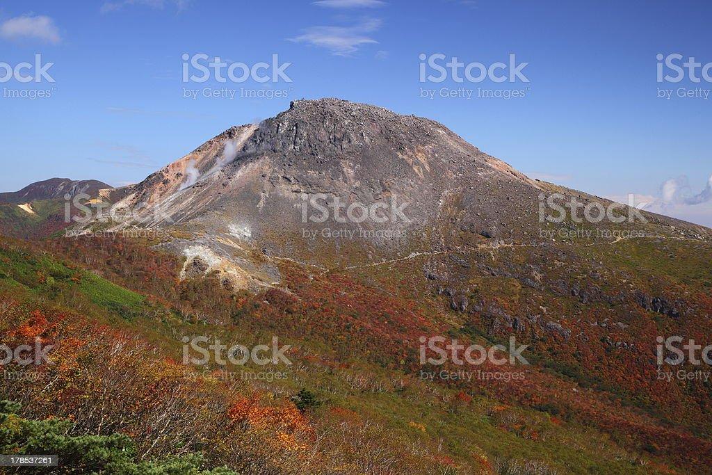 Mt. Nasudake in autumn stock photo