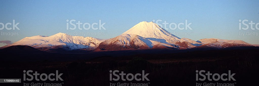 Mt. Ngaruahoe at sunset royalty-free stock photo