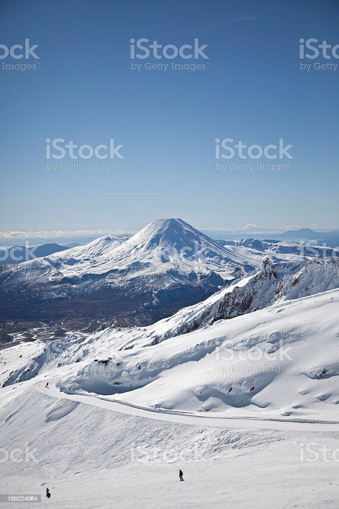 Mt Ngauruhoe from Whakapapa stock photo