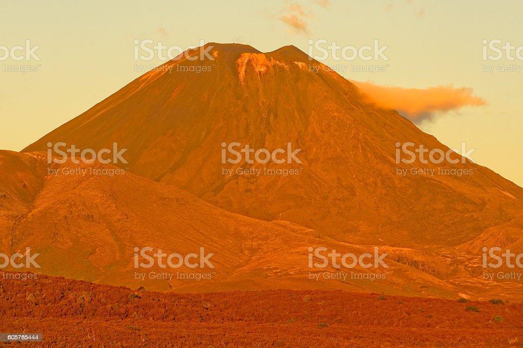 Mt Ngauruhoe, New Zealand stock photo