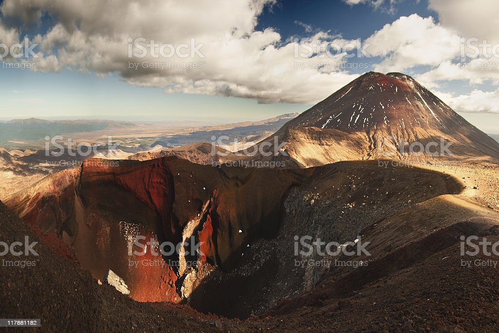 Mt Ngauruhoe panorama royalty-free stock photo