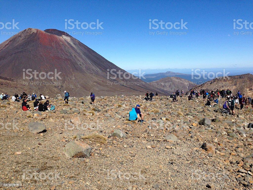 Mt Ngauruhoe - Tongariro Alpine Crossing NZ stock photo