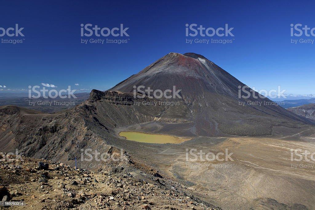 Mt. Ngauruhoe, Tongariro National Park, New Zealand stock photo