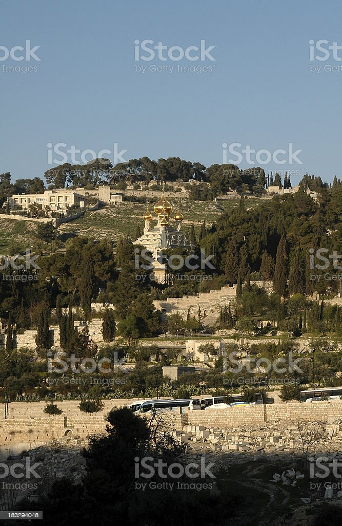 Mt. of Olives stock photo