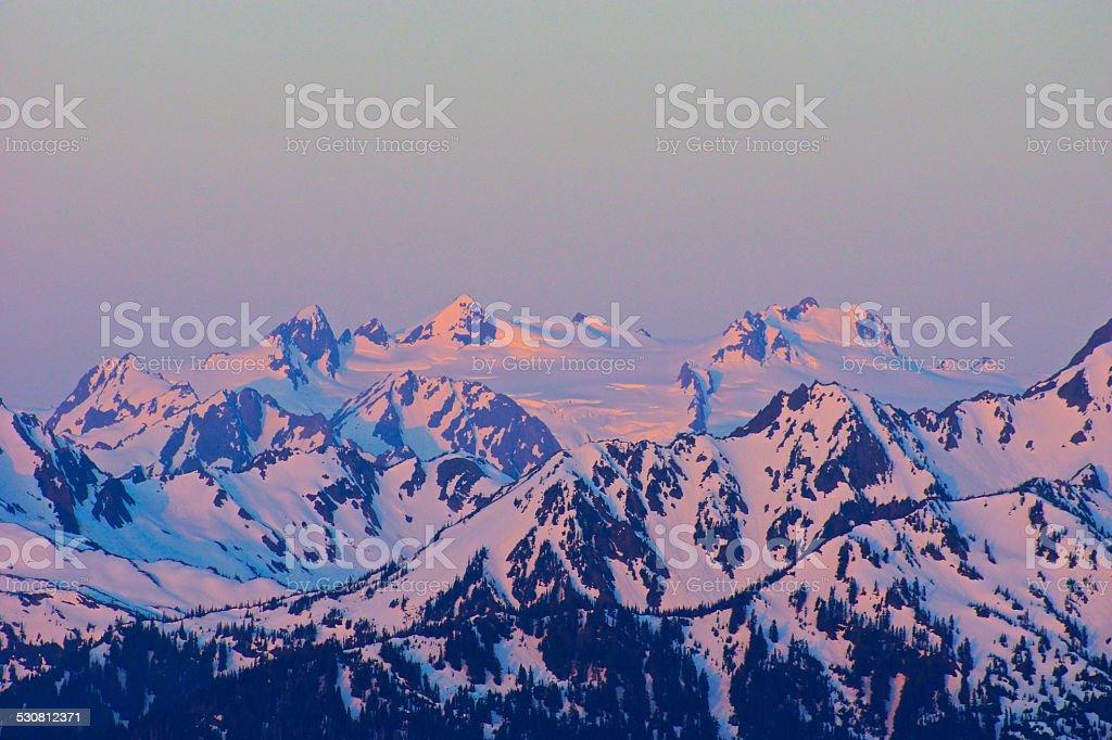 Mt. Olympus Blaze stock photo
