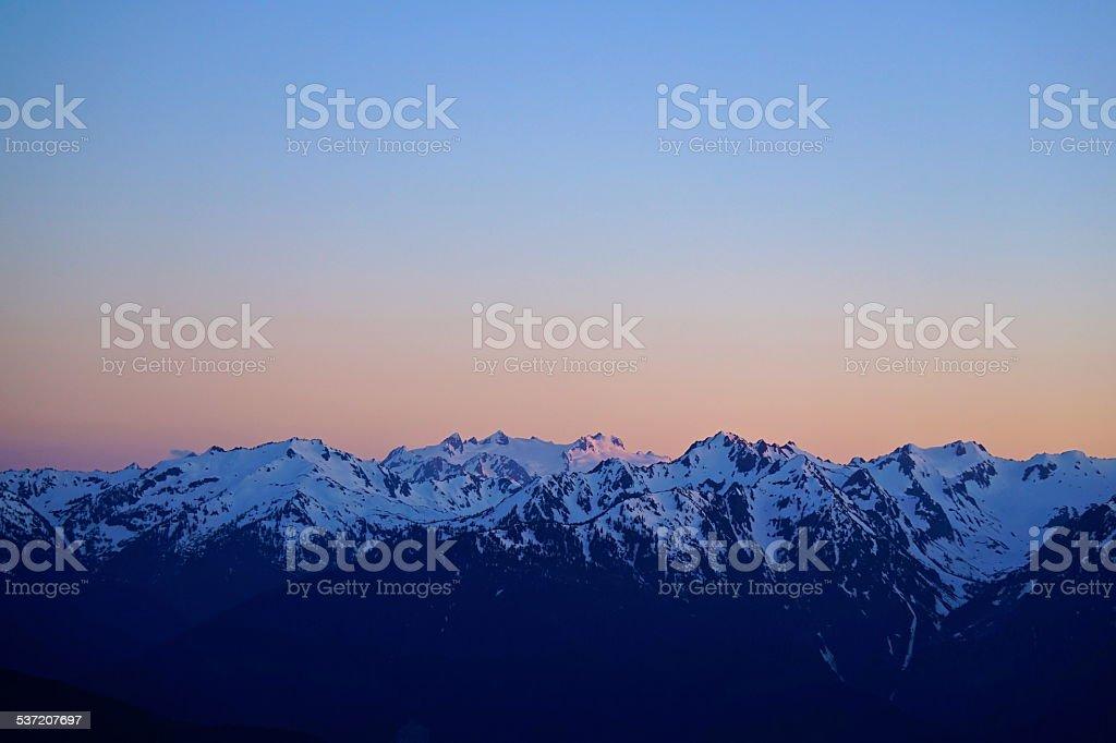 Mt. Olympus High Dusk stock photo