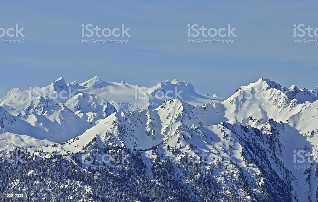 Mt. Olympus Ice stock photo