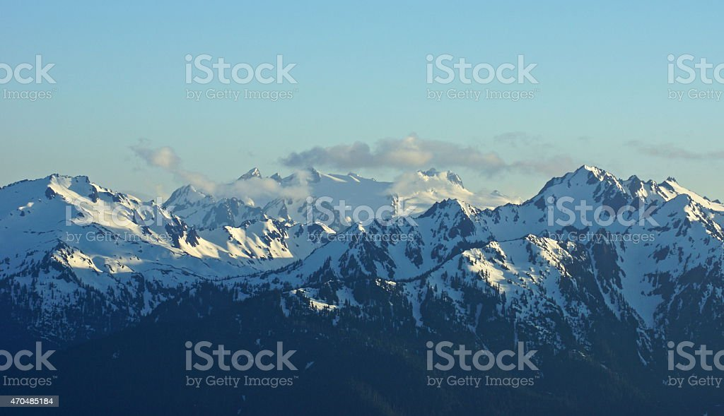 Mt. Olympus Natural Ice stock photo