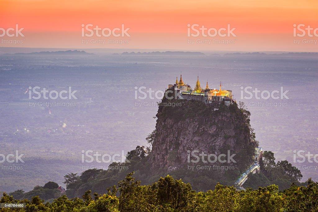 Mt. Popa in Burma stock photo