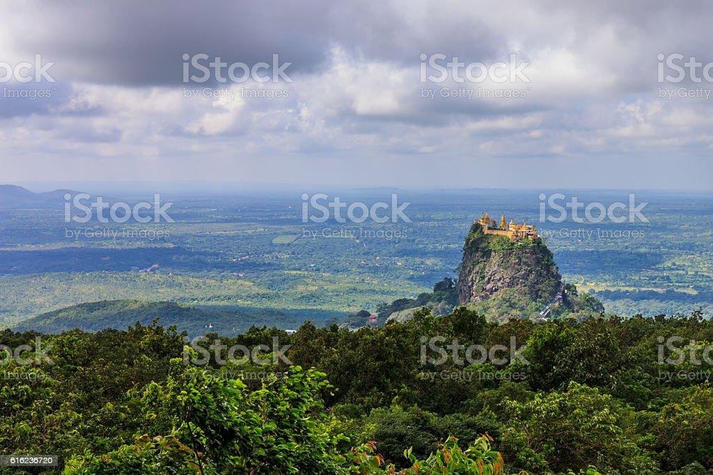 Mt. Popa, Mandalay Division, Myanmar. stock photo
