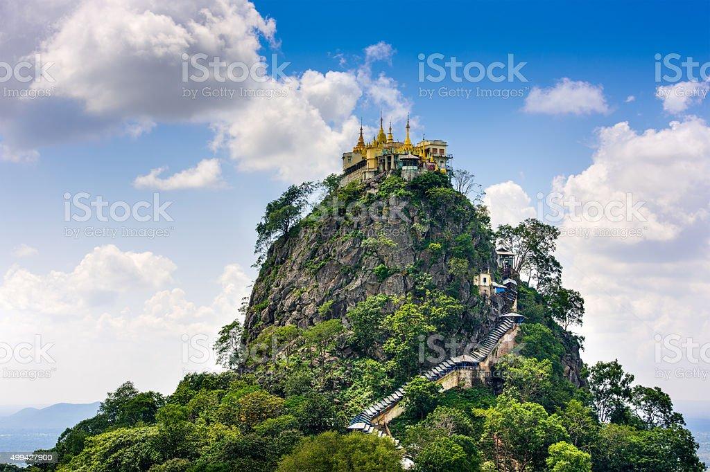 Mt. Popa, Myanmar stock photo