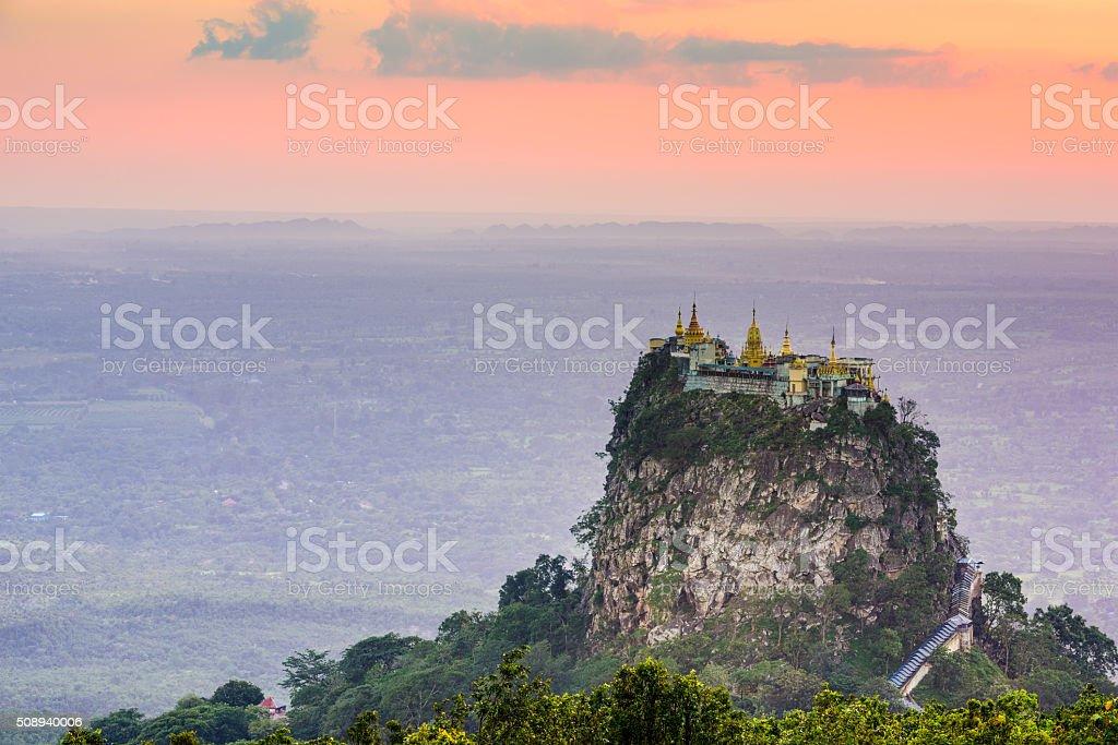 Mt. Popa of Myanmar stock photo