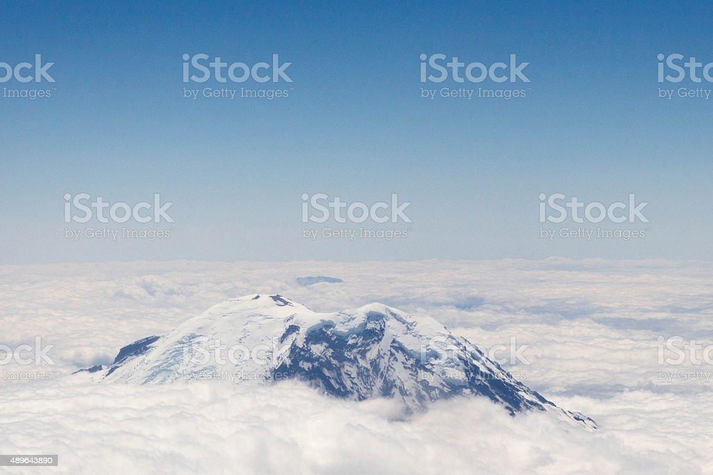 Mt Rainer Summit stock photo