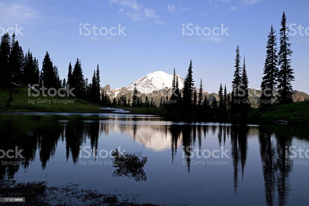 Mt. Rainier and Tipsoo Lake royalty-free stock photo