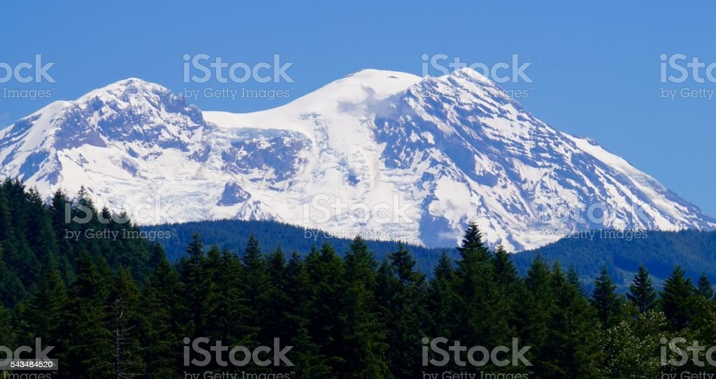Mt. Rainier Blue Ice stock photo