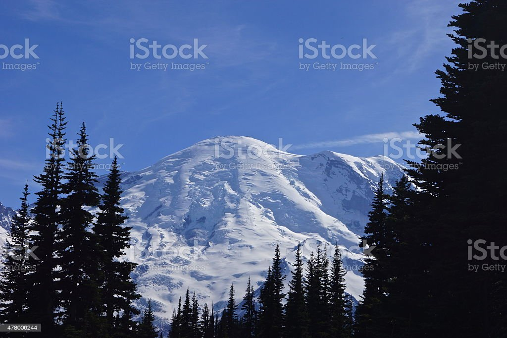 Mt. Rainier Blues stock photo