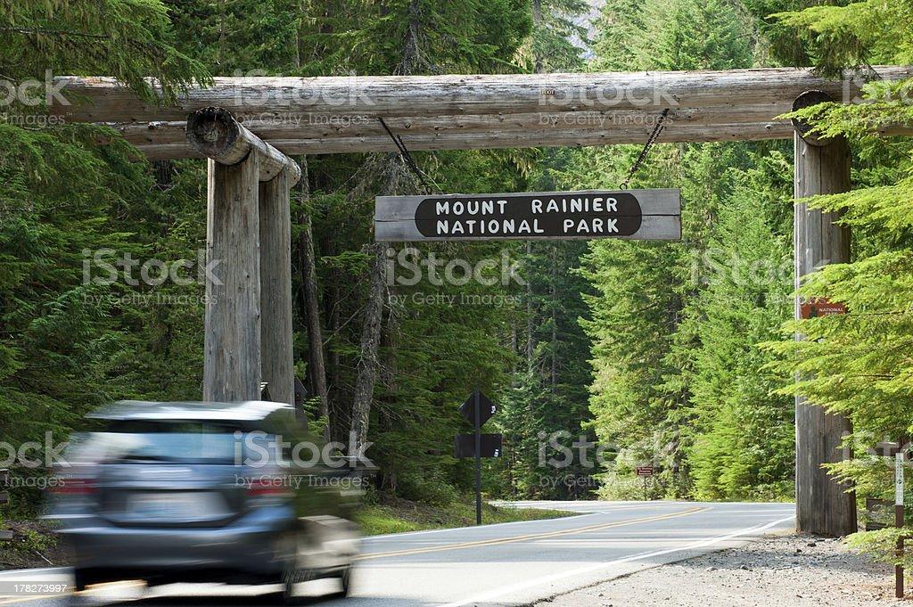 Mt. Rainier Entrance royalty-free stock photo