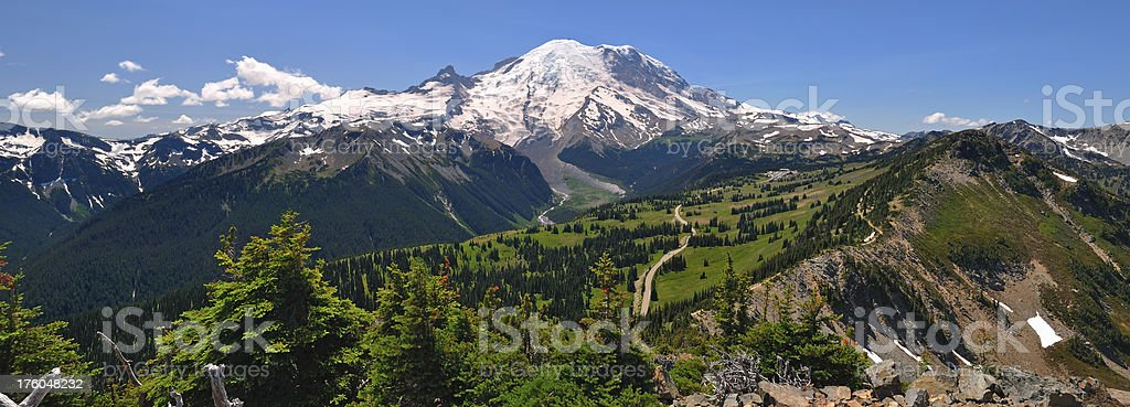 Mt. Rainier from Dege Peak royalty-free stock photo