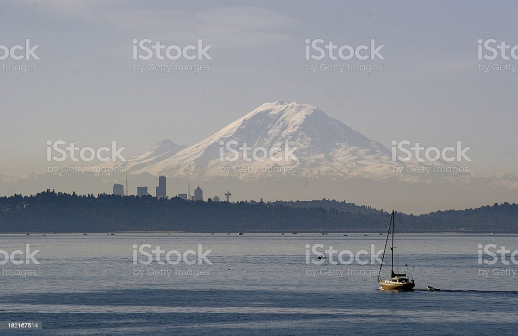 Mt. Rainier From Distance royalty-free stock photo