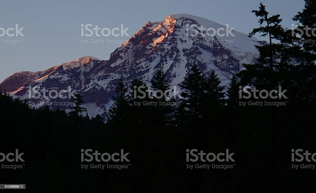 Mt. Rainier High Light stock photo