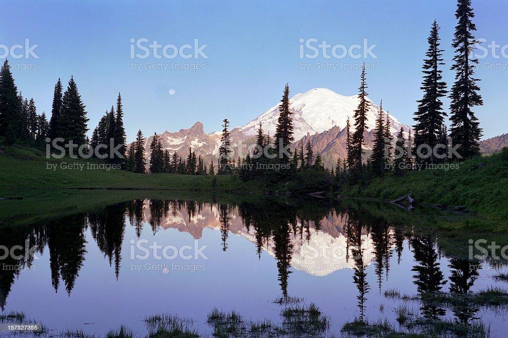 Mt Rainier in morning light royalty-free stock photo
